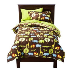 Circo Safari Bed Set - This adorable safari bedding from Circo Kids is perfect — and perfectly inexpensive.