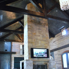 Contemporary Family Room by Green Valley Beam & Truss Co.