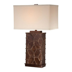 Ambience - Ambience 13026-0 1 Light Cream Linen Table Lamp - Features: