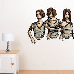 Greek God Vinyl Wall Decal GreekGodUScolor011; 72 in. - Vinyl Wall Decals are an awesome way to bring a room to life!