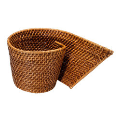 Kouboo - Rattan Cachepot - This rattan cache pot is an ideal planter for a tall, beautiful orchid. It's unusual shape will make this little accessory an interesting conversation piece to your home or office.