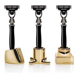Viktor Toothbrush/Razor Holders - Mundane objects, like your razor, turn extra cool in gold holders. I say add these small details into your everyday life, and you'll feel better.