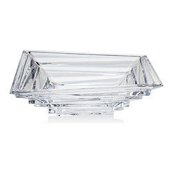 "Godinger Silver - Elegante Oblong Bowl 11"" - Beautiful crystal oblong bowl. Perfect for anything from salad to hot dishes to just a display piece."