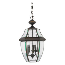 Quoizel - Quoizel NY1179Z Newbury 3 Light Outdoor Pendants/Chandeliers in Medici Bronze - Long Description: When it comes to curb appeal, outdoor lighting plays a large part in creating a special ambiance. The classic design and beveled glass of the Newbury gives the outside of your home a rich elegance, without making it look over-embellished. It�s a versatile look that coordinates with most any architectural style.