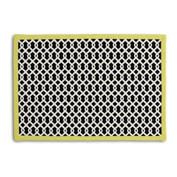 Black Small Geometric Tailored Placemat Set - Class up your table's act with a set of Tailored Placemats finished with a contemporary contrast border. So pretty you'll want to leave them out well beyond dinner time! We love it in this black & white mazelike lattice.  a little pizazz will go a long way.