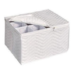 Household Essentials - Decorative Trim Tapered Bin - Medium, Green-olive - Our ivory decorative storage bins are sturdy with soft sides that live up any household or office. Their fashionable trim, and dual handles make these lightweight bins quick, easy, and fun to use.