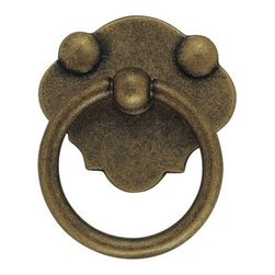 Classic Hardware - Antique Brass Ring Pull (CH10105109) - Antique Brass Ring Pull