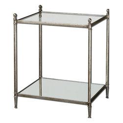 Uttermost - Uttermost Gannon Mirrored Glass End Table - 24282 - Uttermost Gannon Mirrored Glass End Table - 24282