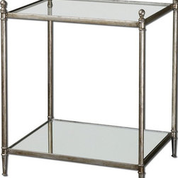 Uttermost - Uttermost Gannon Mirrored Glass End Table - 24282 - Uttermost Gannon Mirrored Glass End Table - 24282