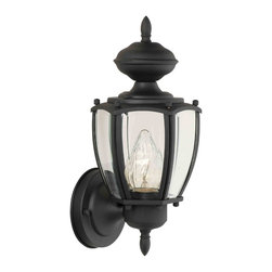 Thomas Lighting - Park Avenue Black Outdoor Wall Sconce - Thomas Lighting SL94717 Park Avenue Black Outdoor Wall Sconce