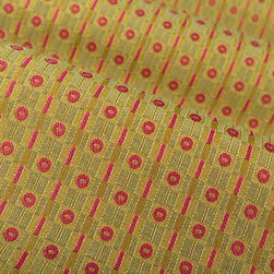 Hip Geometric Upholstery Fabric in Fuchsia Floyd - Hip Geometric Upholstery Fabric in Fuchsia Floyd is a 70′s Inspired motif that's sure to add a groovy element to your interior design. Bright pops of color make this the perfect fabric for throw pillows or accent furniture, and the stain repellent finish makes it the ideal choice for high traffic ares. American made from a blend of 62% polyester and 38% cotton. Exceeds Wyzenbeek 50,000 double rubs. Passes CA Bulletin #117; NFPA 260, UFAC Class I. Cleaning Code: S. Repeat: .76″ V .87″ H; Width: 54″; 13 oz./linear yd.
