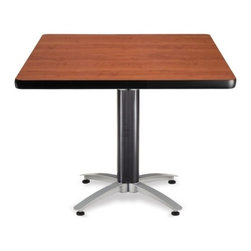 OFM - OFM 42 Square Mesh Base Multi-Purpose Table, Cherry - This 42 square table with elegant mesh base looks fantastic in both lunch and meeting rooms and looks great with the model 310 stack chairs. The banding makes the edges smooth and gives it a finished appearance. The honeycomb core makes the table both lightweight and sturdy.