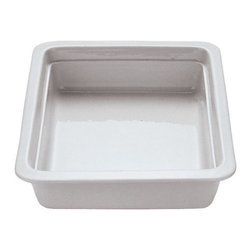 Paderno World Cuisine - 12 1/2 in. by 10 1/2 in. Porcelain Hotel Food Pan - This 12 1/2 in.  by 10 1/2 in.  porcelain hotel food pan is a standard size which fits into universal racks, heating elements and walk-in coolers. This standard was intended to rationalize the working processes in food industry operations by creating a high level of compatibility of kitchen equipment. The Palermo series is a part of a lineage of cookware more than 80 years old.