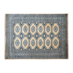 1800-Get-A-Rug - Hand Knotted Bokara Beige Tribal Design 100% Wool Oriental Rug Sh15554 - Our Tribal & Geometric Collection consists of classic rugs woven with geometric patterns based on traditional tribal motifs. You will find Kazak rugs and flat-woven Kilims with centuries-old classic Turkish, Persian, Caucasian and Armenian patterns. The collection also includes the antique, finely-woven Serapi Heriz, the Mamluk Afghan, and the traditional village Persian rug.