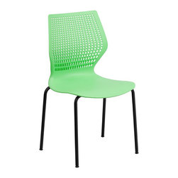 Flash Furniture - Flash Furniture Hercules Designer Stack Chair in Green - Flash Furniture - Stacking Chairs - RUT358GNGG - This multi-purpose stack chair fits in a multitude of environments. This chair will make a great reception meeting office and classroom or break room chair.