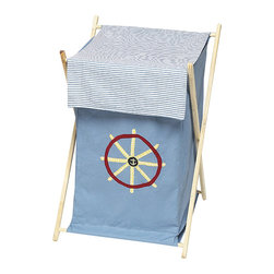 "Sweet Jojo Designs - Come Sail Away Hamper - The Come Sail Away Hamper by Sweet Jojo Designs will add a designers touch to any childs room. This childrens laundry clothes hamper has a wooden frame, mesh liner, and a fabric cover.The removable hamper body is secured to the wooden frame with corner loops and Velcro. The wooden stand folds flat for space-saving storage and the removable mesh liner is great for toting laundry.Dimensions: 15.5"" Length x 16"" Width x 26.5"" Height.If you like the Come Sail Away Hamper Hamper, dont forget to check out the other items in the collection."