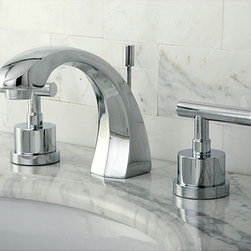 None - Concord Widespread Chrome Bathroom Faucet - Add lasting beauty and charm to your bathroom decor with the Concord bathroom faucet. This faucet is made of solid brass construction and has a chrome finish.