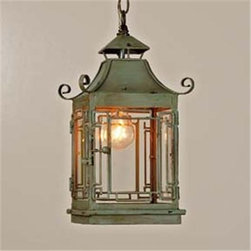 Pagoda Lantern - Pagoda lanterns are some of my favorites, and this one would add a touch of whimsy to any space. And it comes in two great colors.