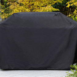 Sure Fit - 80-inch Premium Grill Cover - Protect your outdoor grill with this black durable grill cover. Made from high-quality material with Velcro closures,this grill cover effectively guards your grill from precipitation and harsh winter weather. This grill cover is also machine washable.