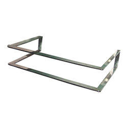 Renovators Supply - Sink Parts Stainless Steel Wall Sink Support ONLY - Sonoma wall-mount sink support made of stainless steel also have a handy towel bar. See specifications to ensure that this support fits your sink.