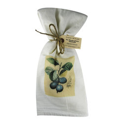 Plums    Flour Sack Towel  Set of 2 - A fabulous set of 3 flour sack towels. This set features a wonderful antique botanical fruit print of Plums   These towels are printed in the USA by American Workers!