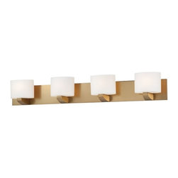 Minka Lavery - 5244-248 Modern Craftsman 4 Light Bath Lighting in Honey Gold - Features: