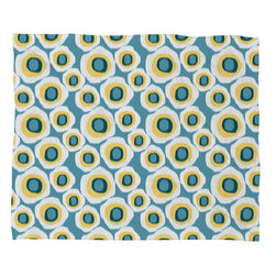 DENY Designs - Raven Jumpo Ikat Circles Polar Fleece Throw Blanket - This DENY fleece throw blanket may be the softest blanket ever! And we're not being overly dramatic here. In addition to being incredibly snuggly with it's plush fleece material, it's maching washable with no image fading. Plus, it comes in three different sizes: 80x60 (big enough for two), 60x50 (the fan favorite) and the 40x30. With all of these great features, we've found the perfect fleece blanket and an original gift! Full color front with white back. Custom printed in the USA for every order.