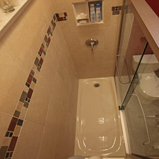 Traditional Bathroom Cabinets And Shelves by Bathroom Tile Shower Shelves