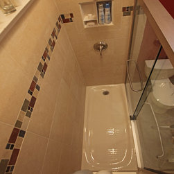 Recessed Bathroom Tile Niches - Mark Daniels Kitchen and Bath Remodeling