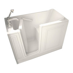 American Standard - American Standard 2651.110.SLW Walk-In Soaking Tub, White - American Standard 2651.110.SLW Walk-In Soaking Tub, White. This premium combination bath features a premium acrylic construction with fiberglass reinforcement, a water-tight door system with a patented aluminum frame, a built-in chair height seat and color matched grab bar, a textured tub floor for a slip-free surface, a color matched left-sided waste/overflow, and a free-standing metal support frame for reliable durability.