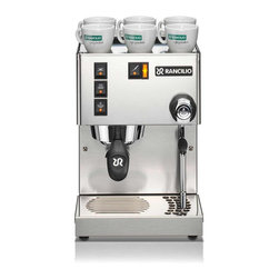 Rancilio - Silvia Stainless Steel Espresso Machine - Ran - Professional image. Stainless steel body. Clean, linear design. Compliments any decor. Reliable. Brew group and boiler made of brass. Commercial grade group head for superb heat stability and extraction quality
