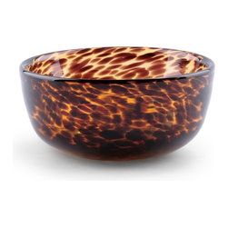Tortoise Glass Nut Bowl - A handblown tortoise bowl is such a chic way to serve up snacks.