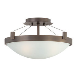 Kovacs - Kovacs P591 3 Light Semi-Flush Ceiling Fixture in Copper Bronze Patina - Three Light Semi-Flush Ceiling Fixture from the Suspended CollectionFeatures: