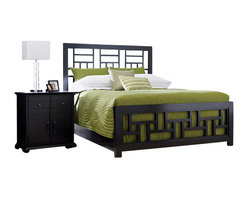 Broyhill - Broyhill Perspectives Lattice Bed 5 Piece Bedroom Set in Graphite - Broyhill - Bedroom Sets - 44445PcLatticeBedSet - Broyhill Perspectives 9 Drawer Dresser in Graphite Finish (included quantity: 1) About This Product: