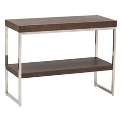 Frank Console Table - Simple, sleek and modern, this is great for small spaces, especially bachelor pads.
