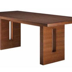 NUEVO - Nico Dining Table, Tan Walnut, Small - Stained American Oak or stained American Walnut veneer.