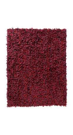 Nanimarquina - Little Field Of Flowers Reds Rug - Give your floor a secret garden of blossoms with this unique, eco-chic rug, which looks like an ordinary shag, but with closer inspection, reveals a bed of tiny blooms. This sculptural, textured rug is crafted of handwoven felt flowers and is available in a variety of sizes and colors, including red, green, gray-purple and white. Let every step in your home be a floral frolic!