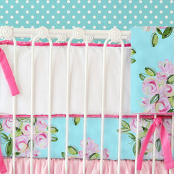 Caden Lane - Girly Tiny Bouquet Crib Blanket - Girly Tiny Bouquet Crib Blanket