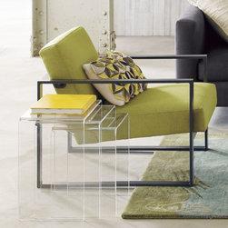 peekaboo clear nesting tables set of three -