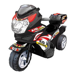 Kid Motorz - Kid Motorz Motorcycle Battery Powered Riding Toy - 0121 - Shop for Tricycles and Riding Toys from Hayneedle.com! Perfect for the kid who dreams of having a motorcycle the Kid Motorz 6 Volt Motorbike will make their wish come true. This durable motorbike has forward and backwards gears working lights and sound and comes in your choice of color. Perfect for a kid who loves to move quickly this bike can travel up to 2.5 MPH. Designed for children ages 1-3 and up to 66 pounds Includes a 90-day warranty.