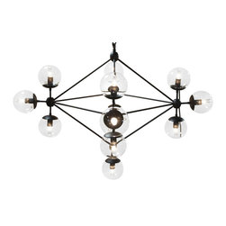 NOIR - Noir Furniture Pluto Chandelier, Small - NOIR Furniture - Pluto Chandelier - LAMP478