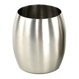 Gedy - Round Stainless Steel Toothbrush Holder - Unique, stylish round stainless steel Toothbrush holder for countertop or vanity.