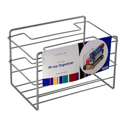 Organized Living - Organized Living Nickel Kitchen Wrap Organizer - The Organized Living Kitchen Wrap Organizer is the perfect storage solution for your plastic wrap, food storage bags, tin foil, and wax paper. This Kitchen organizer fits easily on your cabinet or pantry shelf, and spotlights a nickel finish.