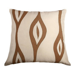 Rizzy Home - Cream and Khaki Decorative Accent Pillows (Set of 2) - T02251 - Set of 2 Pillows.