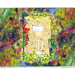 Caroline's Treasures - Wine Kitchen Or Bath Mat 24X36 - Kitchen / Bath Mat 24x36 - 24 inches by 36 inches. Permanently dyed and fade resistant. Great for the Kitchen, Bath, outside the hot tub or just in the door from the swimming pool.    Use a garden hose or power washer to chase the dirt off of the mat.  Do not scrub with a brush.  Use the Vacuum on floor setting.  Made in the USA.  Clean stain with a cleaner that does not produce suds.