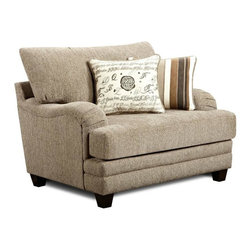 Chelsea Home Furniture - Chelsea Home Warren Chair Upholstered in Wampum Taupe - Warren Chair Upholstered in Wampum Taupe belongs to Verona VI collection by Chelsea Home Furniture.