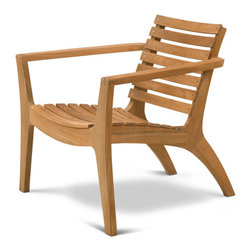 Skagerak Denmark - Regatta Lounge Chair, Teak - Wide and welcoming, this gorgeous chair by Hans Thyge will give you the lounge of your life. With its sturdy but airy design, elegant shape and relax-ready contouring, it's a fabulously comfortable spot to sit a spell.