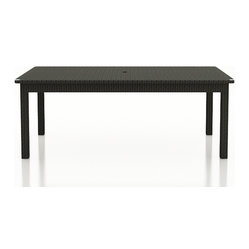 "Rattan Patio 84"" Rectangular Dining Table"