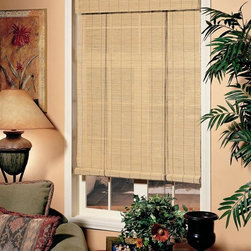 Lewis Hyman - Imperial Matchstick Roll-Up Blind in Natural - Choose Size: 48 in. W x 72 in. LA thin, matchstick style weave gives this roll-up blind an island inspired look that will bring warmth and exotic charm to any home's decor. The blind is constructed of wood and bamboo in a natural finish and features a built-in valance. It is available in your choice of sizes. 72 in. L. Made from Bamboo and Wood. 6 in. built-in valance. Light filtering provides privacy. Energy-efficient Insulation. Easy to install. Minimal assembly required. 72 in. W has 2 hangersCool light of an early morning sunrise glides across the room, be