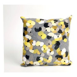 """Trans-Ocean - Pansy Grey Pillow - 20"""" SQ - The highly detailed painterly effect is achieved by Liora Mannes patented Lamontage process which combines hand crafted art with cutting edge technology.These pillows are made with 100% polyester microfiber for an extra soft hand, and a 100% Polyester Insert.Liora Manne's pillows are suitable for Indoors or Outdoors, are antimicrobial, have a removable cover with a zipper closure for easy-care, and are handwashable."""
